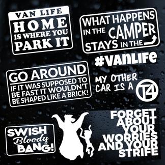 Campervan and Motorhome Stickers