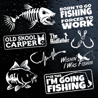 Fishing and Angling Stickers