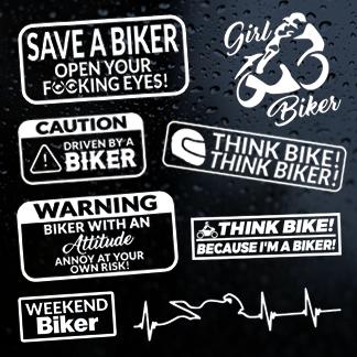 Motorcycle & Biker Stickers