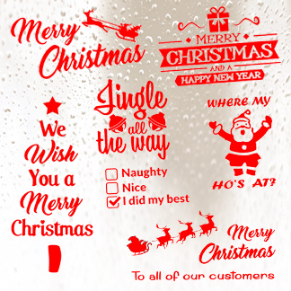 Christmas and Festive Stickers
