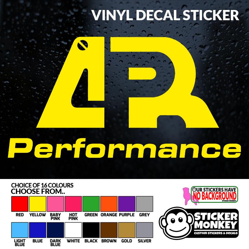 2X APR PERFORMANCE sticker vinyl decal