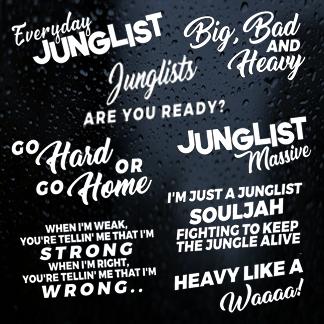 Jungle / Drum & Bass Stickers